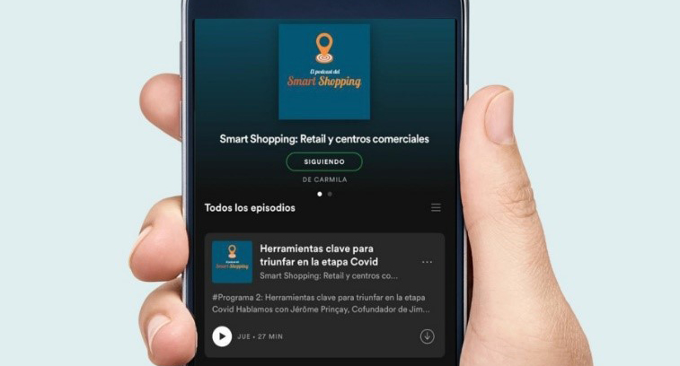 Smart Shopping by Carmila podcast sobre retail y centros comerciales - Just Retail