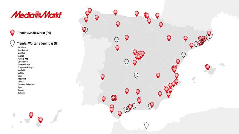 Competencia da luz verde a la operacion entre MediaMarkt y Worten -mapa- Just Retail