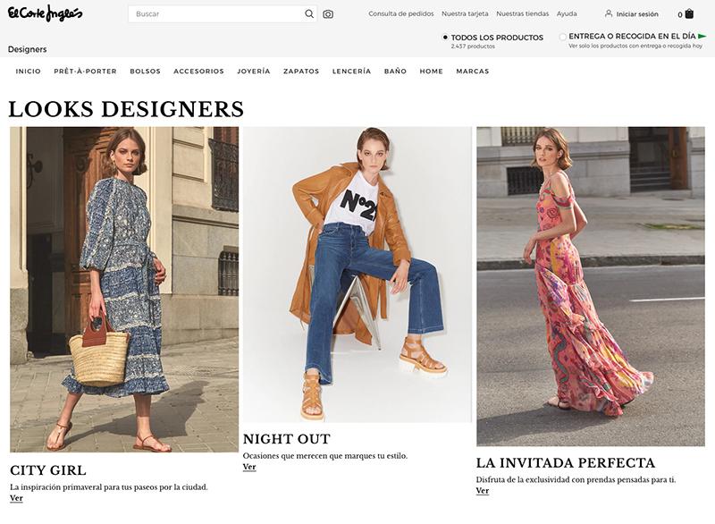 Designers área online moda exclusiva Corte Inglés noticias retail