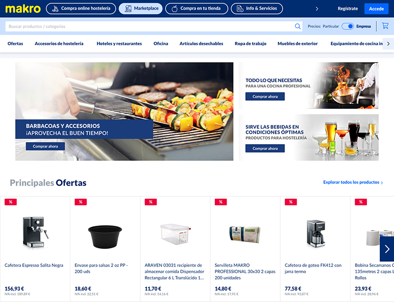 Makro lanza marketplace hostelería noticias retail