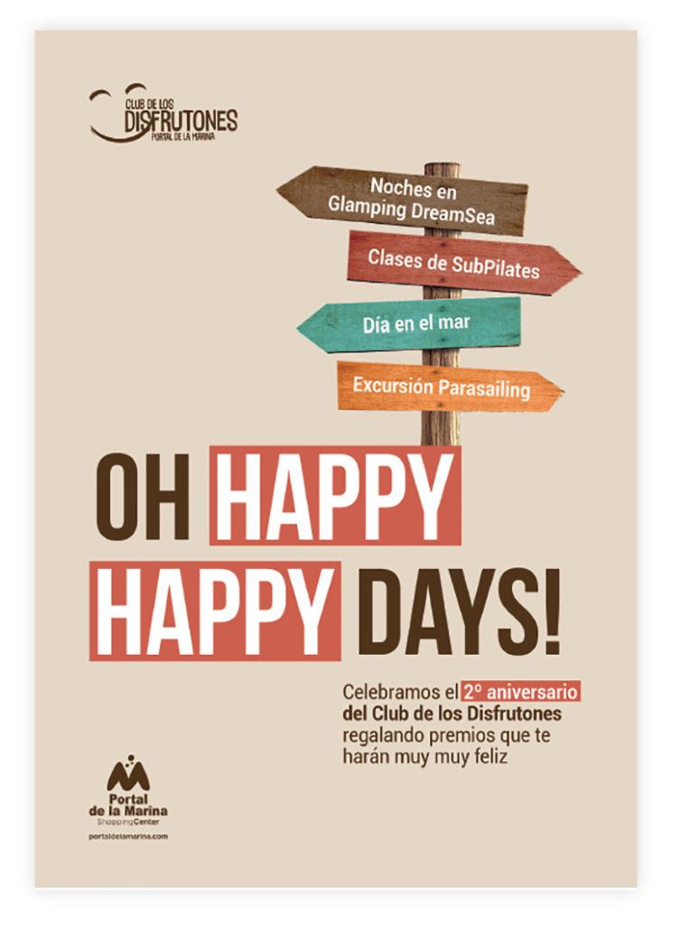 Portal de la Marina Oh Happy Days promoción noticias retail