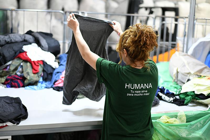 Parquesur recuperar textil usado Humana noticias retail