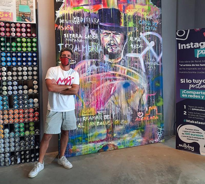 Torrecardenas arte mural artista Rene Makela Clint Eastwood noticias retail